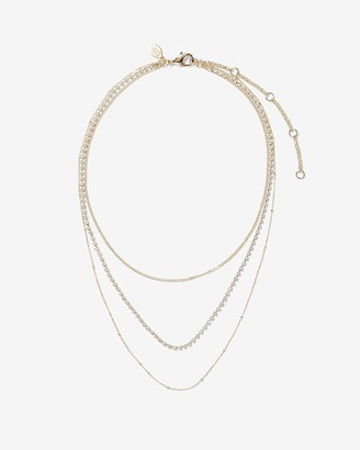 Express Stone Embellished Chain Layered Necklace