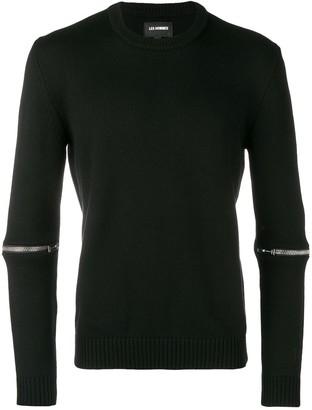 Les Hommes Zip Embellished Sweater