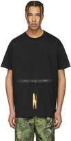 Givenchy Black Waist Zip T-shirt