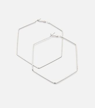 New Look Hexagonal Hoop Earrings