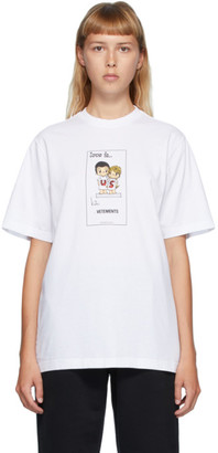 Vetements White Love Is... Us T-Shirt