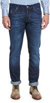 Brunello Cucinelli Slim-Fit Denim Jeans, Dark Blue