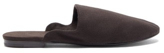 The Row Granpa Cashmere Backless Loafers - Brown