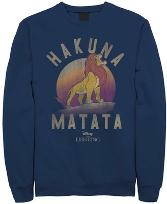 Simba Licensed Character Men's Disney Lion King Hakuna Matata Roar Graphic Fleece