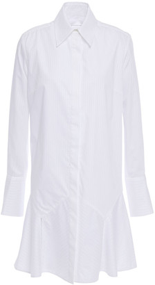 Victoria Victoria Beckham Fluted Cotton-jacquard Mini Shirt Dress