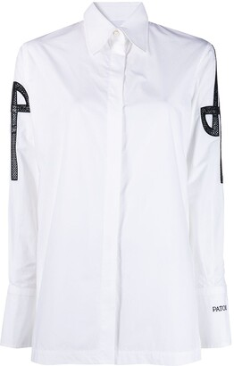 Patou Logo-Embroidered Cotton Shirt