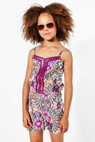 boohoo Girls Mirror & Embroidered Playsuit