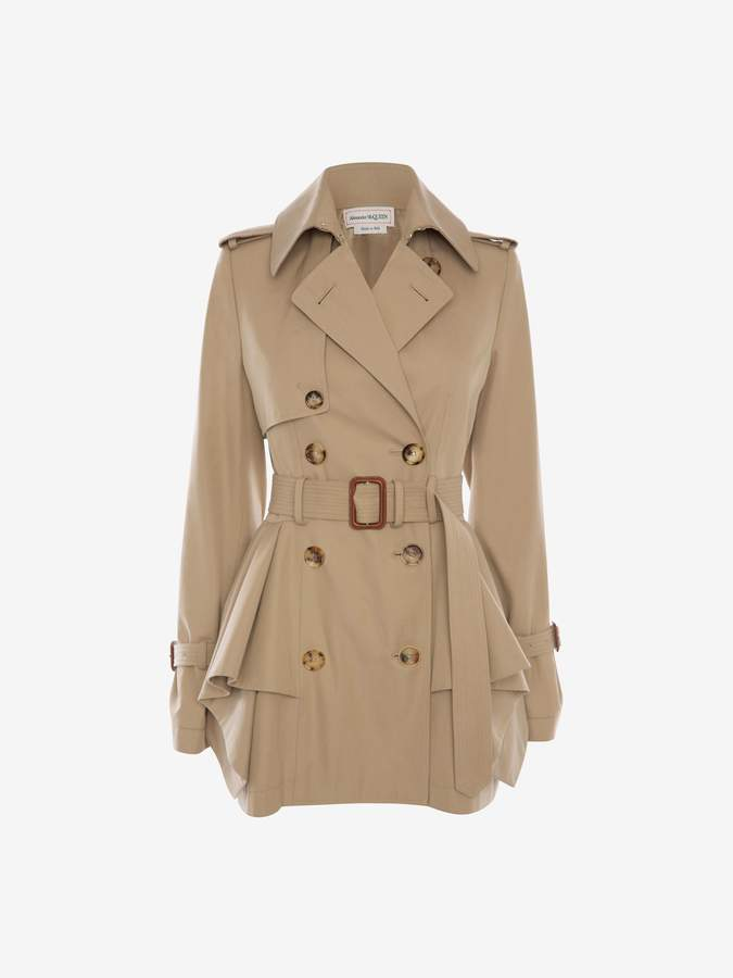 footwear detailed images latest selection of 2019 Peplum Trench Coat