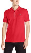 Lacoste Men's Short Sleeve Regular Fit Solid Polo with Pocket