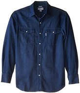 Carhartt Men's Big & Tall Ironwood Denim Work Shirt Snap Front Relaxed Fit