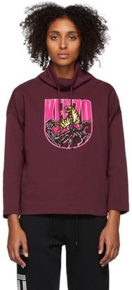 Kenzo Burgundy Logo Tiger Mountain Sweatshirt