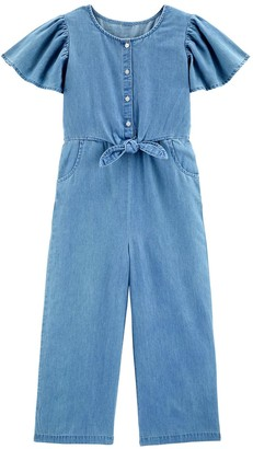 Carter's Girls 4-14 Denim Jumpsuit