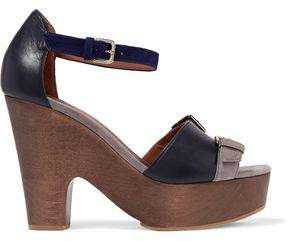 Malone Souliers Color-block Leather And Suede Platform Sandals