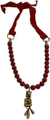 Valentino Red Pearl Necklaces