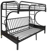 ACME Furniture Eclipse Twin Over Full Futon Bunk Bed-Black-Acme