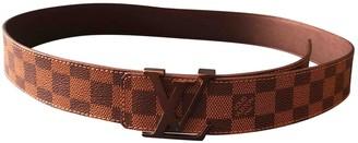 Louis Vuitton Shape Brown Cloth Belts