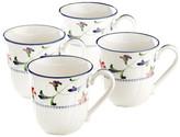 Noritake Indigo Garden 4 Mug Set