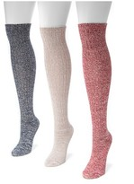 Muk Luks Women's 3 Pair Pack Marl Knee High Socks - Love America