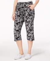 Karen Scott Petite Printed Capri Pants, Created for Macy's