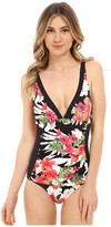 Tommy Bahama Victoria Blooms V-Neck Over the Shoulder Cup 1 Piece