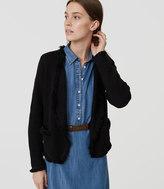 LOFT Fringe Sweater Jacket