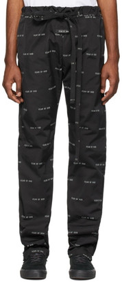 Fear Of God Black Logo Baggy Lounge Pants