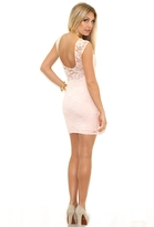 Donna Mizani Passion Lace Boat Neck Dress in Ballet