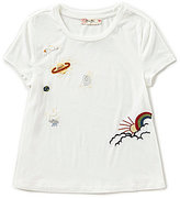 Miss Me Girls Big Girls 7-16 Space Patch Embroidered Tee