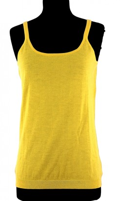 Eric Bompard Yellow Cashmere Top for Women