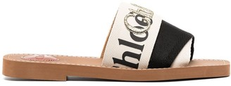 Chloé Woody logo flat sandals