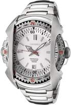 Seiko Men's SNQ087 Perpetual Calendar Dial Stainless Steel Watch