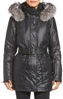 Spyder Women's Dulce Waterproof Down Jacket With Genuine Fox Fur Trim