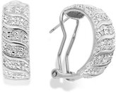 Townsend Victoria Rose-Cut Diamond Hoop Earrings in 18k Gold over Sterling Silver (1/2 ct. t.w.)