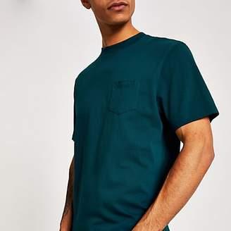 River Island Turquoise chest pocket short sleeve T-shirt