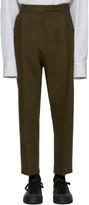 Ann Demeulemeester Green Classic Pleat Trousers