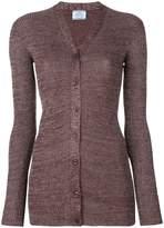 Prada metallic threading cardigan