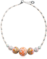 Antica Murrina Veneziana Papaya 2 Orange Pastel Murano Glass Choker