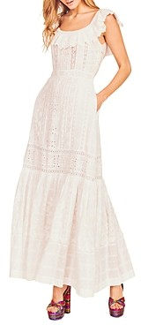 LoveShackFancy Niko Cotton Lace & Eyelet Maxi Dress