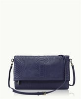 GiGi New York Carly Convertible Clutch Embossed Python