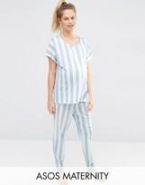 Asos Deckchair Stripe Tee & Pant Pajama Set