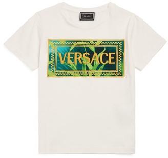 Versace Leaf Logo T-Shirt (4-14 Years)