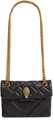 Kurt Geiger London Mini Kensington X Leather Shoulder Bag