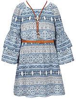 My Michelle Big Girls 7-16 Printed Bell-Sleeve Dress