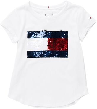 Flap Flip Sequin T-Shirt