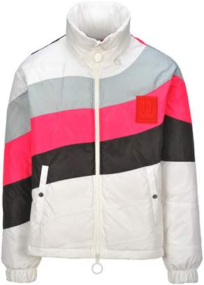 Off-White Off White Contrast Stripe Puffer Jacket