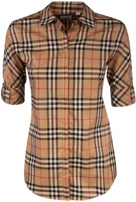 Burberry Short-sleeve Checked Shirt