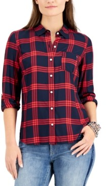 Tommy Hilfiger Plaid Roll-Tab Shirt