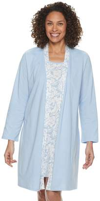 Croft & Barrow Women's Sleepshirt & Robe Set