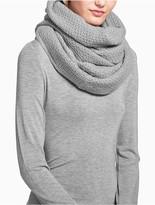 Calvin Klein Textured Lurex Infinity Scarf