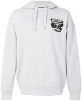 Moschino chest logo hoodie